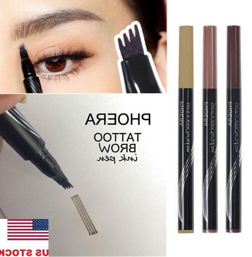 US 4 Head Sketch Eyebrow Pencil Fork tip Waterproof Tattoo P