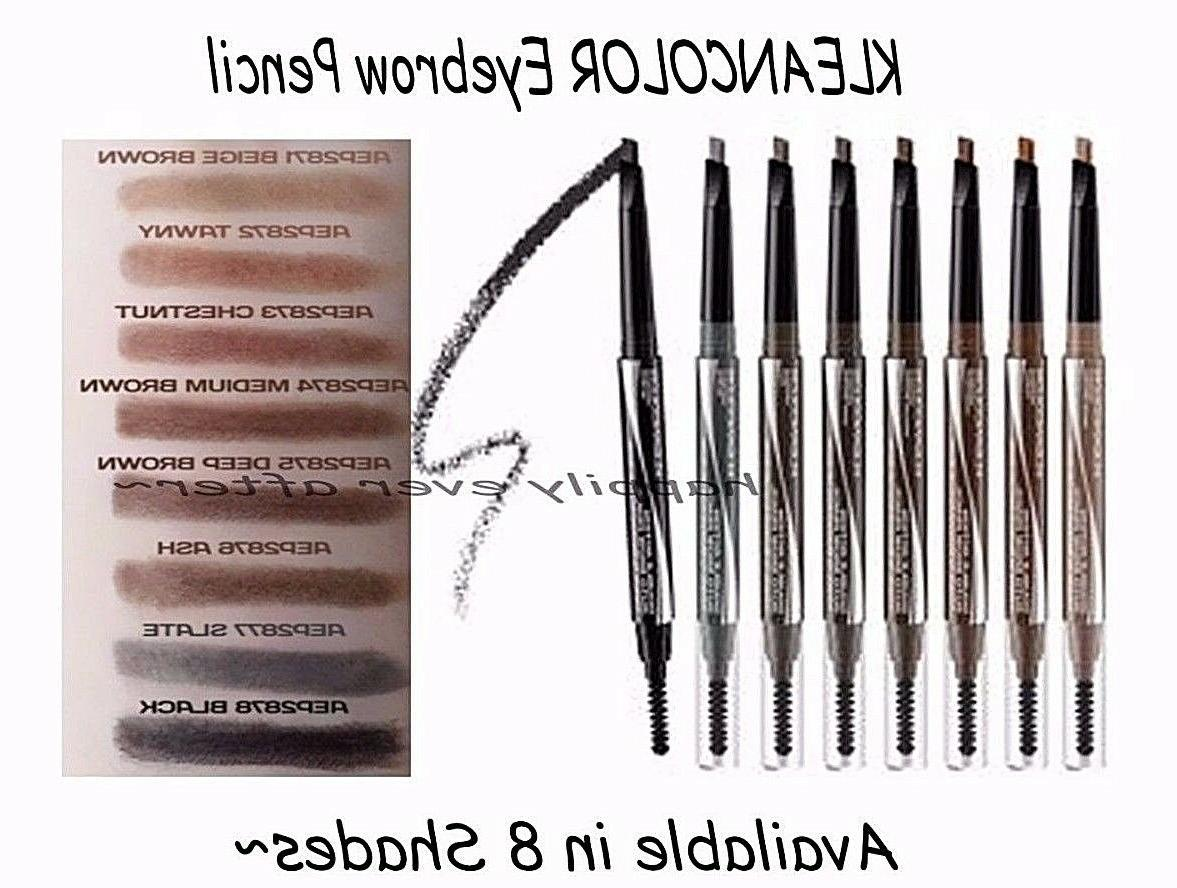 waterproof auto eyebrow pencil double action triangular