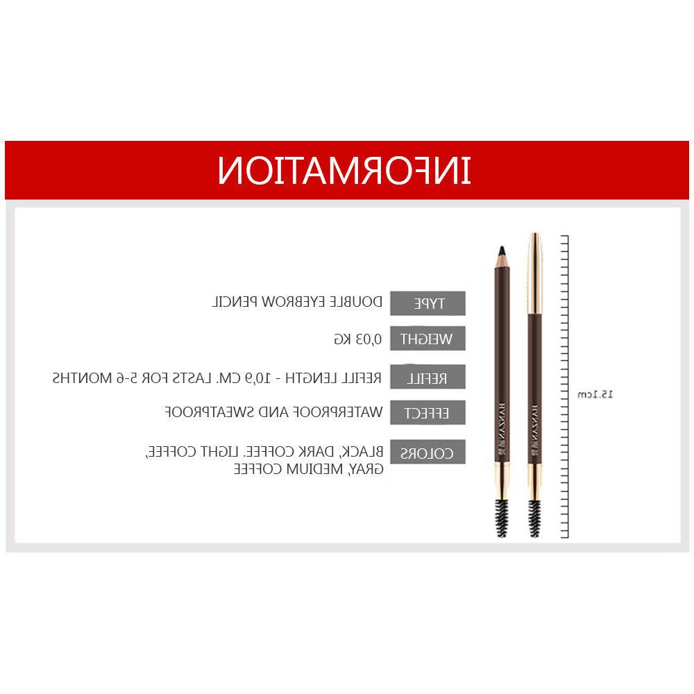 HANZAN Double Pencil Three-Dimensional Natural Best 5 Colors