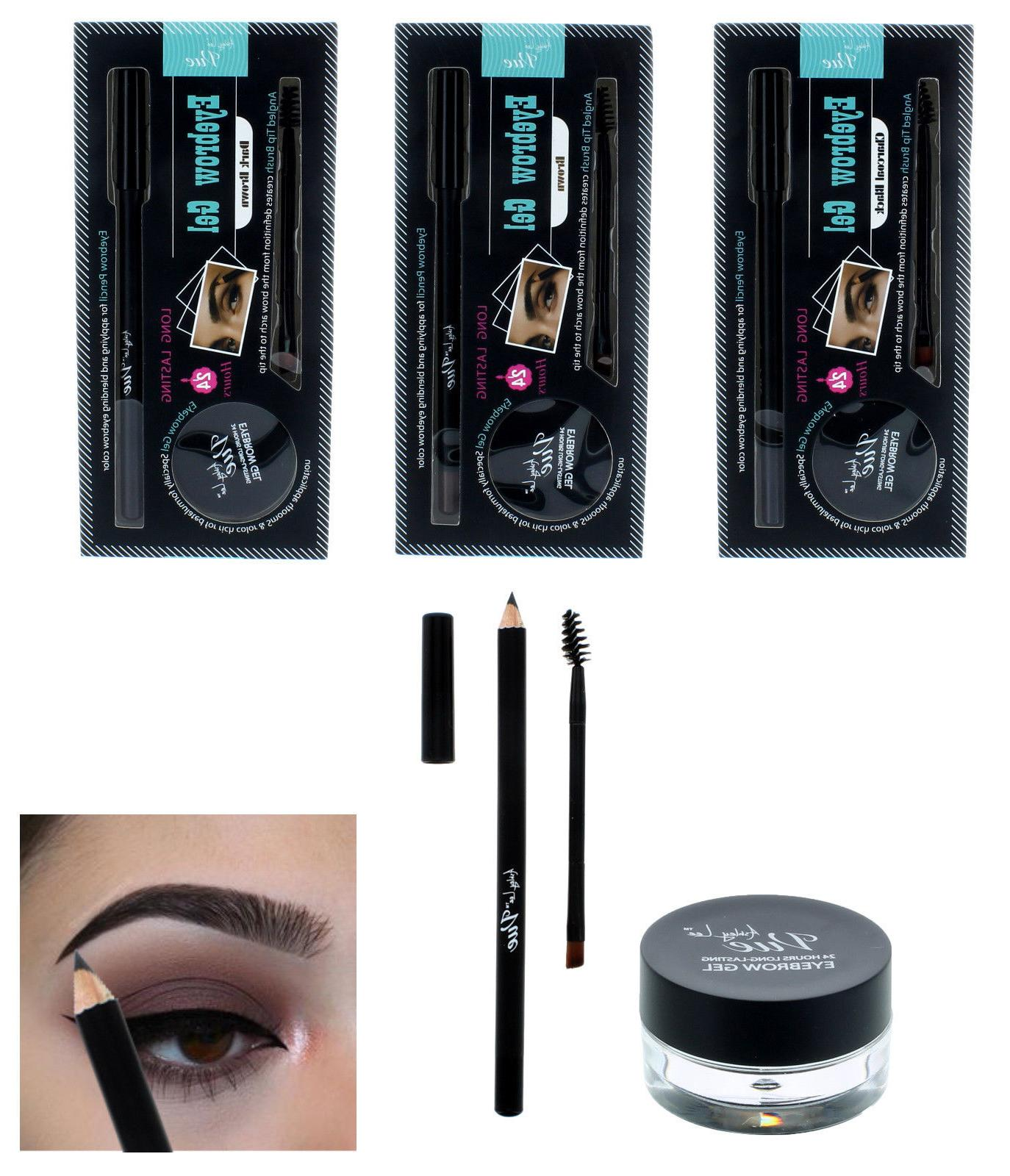 Waterproof Eye Brow Eyeliner Eyebrow Gel & Pen Pencil Makeup