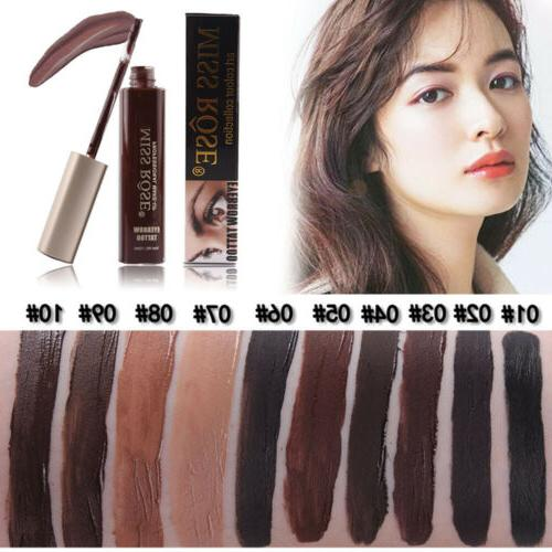 Women Eyebrow Pencil Gel Tint Tattoo Enhancer Brow Cream Las
