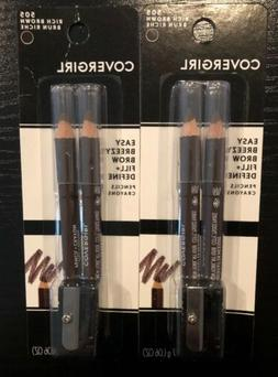 Lot 2 CoverGirl Easy Breezy Brow Fill+Define Eyebrow Rich br