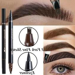 Microblading Tattoo Eyebrow Ink 3 Fork Tip Pen Eye Brow 3D M