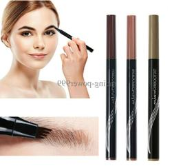 Microblading Tattoo Eyebrow Pencil Waterproof Fork Tip Eye B