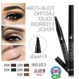 Microblading Tattoo Eyebrow Ink Pen Long Lasting 3D Fork Wat