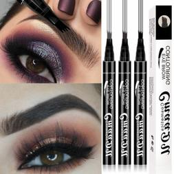 Microblading Tattoo Eyebrow Pencil Ink Fork Tip Pen Eye Brow