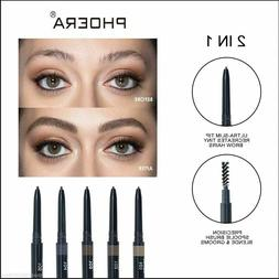 PHOERA ULTRA SLIM EYEBROW LINER PENCIL BRUSH RETRACTABLE EYE