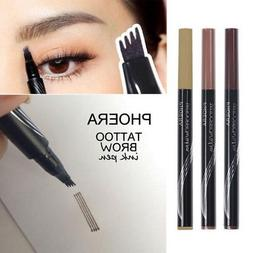 US Ship Micro 4Comb Eyebrow Pencil Waterproof Fork tip Eyebr