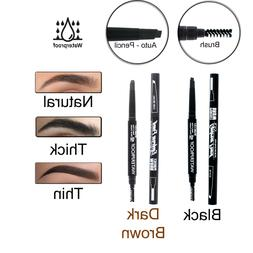 Waterproof Auto Rotation Eyebrow Pencil With Brush Eyeliner