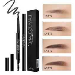 Waterproof Natural Eyebrow Pencil Automatic Rotate Double He